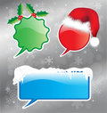 Christmas speech bubbles Royalty Free Stock Image