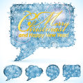 Christmas Speech Bubbles Stock Photos