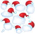 Christmas speech bubbles set 1 Royalty Free Stock Photo