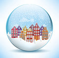 Christmas Sphere - City (Amsterdam) Royalty Free Stock Photo