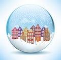 Christmas Sphere - City (Amsterdam) Royalty Free Stock Photo