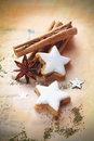 Christmas spice and biscuits Royalty Free Stock Photography