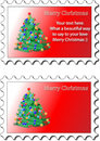 Christmas stamp Royalty Free Stock Photo