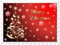 Christmas Stamp Abstract Tree Background Royalty Free Stock Photos