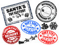 Christmas stamps set Royalty Free Stock Image