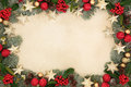 Christmas Star Background  Border Royalty Free Stock Photo