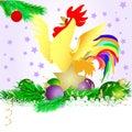 Christmas star and cock 3