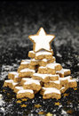 Christmas star cookies tree Royalty Free Stock Photo