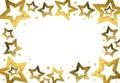 Christmas Star frame Royalty Free Stock Photo