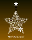 Christmas Star Greeting Card Royalty Free Stock Photo