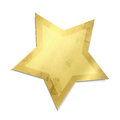 Christmas star isolated golden against white background Royalty Free Stock Images