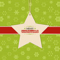 Christmas star  label background Royalty Free Stock Photo