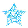 Christmas star made of star and snowflakes icons Stock Image