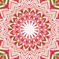 Christmas star mandala Stock Photo