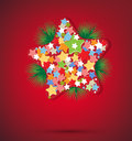 Christmas star and new year Royalty Free Stock Photos