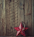 Christmas star old style hand painted Stock Photography