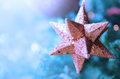 Christmas star ornament - Abstract colors Royalty Free Stock Photo