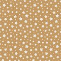 Christmas star seamless pattern white color on gold background for christmas sale Royalty Free Stock Photo