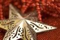 Christmas star shape Royalty Free Stock Photo