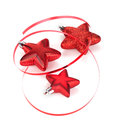Christmas star shaped decoration Royalty Free Stock Photos