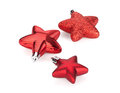Christmas star shaped decoration isolated on white background Royalty Free Stock Images