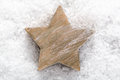 Christmas star on snow Royalty Free Stock Photography
