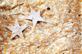 Christmas stars background on recycle paper Royalty Free Stock Image