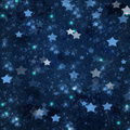 Christmas stars on blue   background Royalty Free Stock Photo