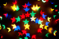 Christmas stars bokeh background Royalty Free Stock Photography