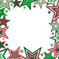 Christmas Stars Border Stock Photo