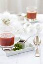Christmas starter beet soup Stock Photography