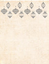 Christmas stationary background with bells beige ivory Royalty Free Stock Image
