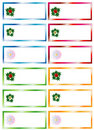 Christmas Stickers Royalty Free Stock Image
