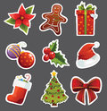 Christmas stickers Royalty Free Stock Photos