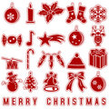 Christmas Stickers Icons Royalty Free Stock Images