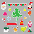 Christmas stickers icons Royalty Free Stock Photo