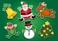 Christmas Stickers / Labels Royalty Free Stock Photo