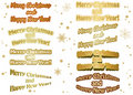 Christmas stickers - merry christmas - vector Royalty Free Stock Photo