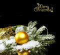 Christmas still life on black background Royalty Free Stock Photos