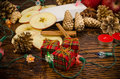 Christmas still life with holiday related objects Royalty Free Stock Photography