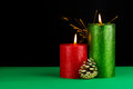 Christmas still life photo of a candle Stock Photography