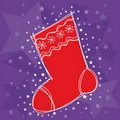 Christmas stocking Stock Photo