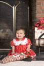 Christmas Stocking Baby Royalty Free Stock Images