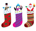 Christmas Stocking Characters Royalty Free Stock Photo