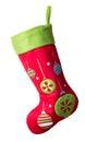 Christmas stocking isolated on white background Stock Images