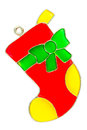 Christmas stocking ornament Royalty Free Stock Photo
