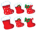 Christmas stocking set Stock Image