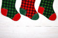 Christmas stocking on white background Royalty Free Stock Photo