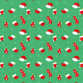 Christmas stockings and hats sticker vector illustration Stock Image