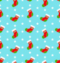 Christmas stockings seamless pattern vector Royalty Free Stock Photo